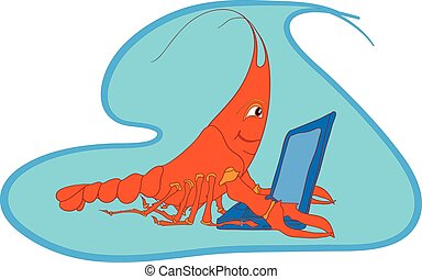 Shrimp cartoon character