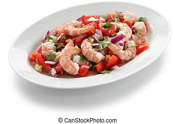 shrimp ceviche , prawn ceviche