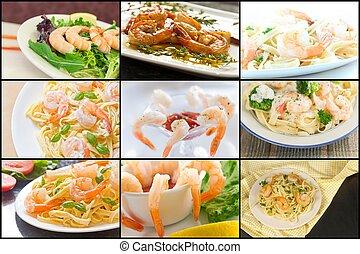 Shrimp Collage