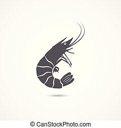 Shrimp flat icon