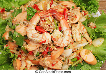 Shrimp glass noodles salad ?a - Asia food