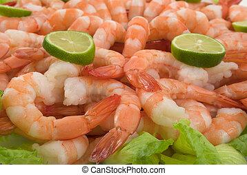 Shrimp - Gourmet large shrimp cocktail with cocktail sauce, ...
