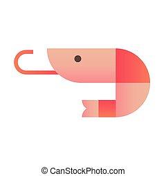 Shrimp gradient illustration