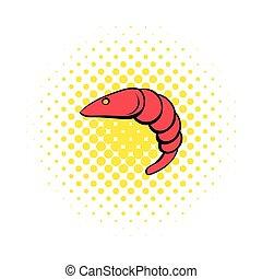 Shrimp icon in comics style
