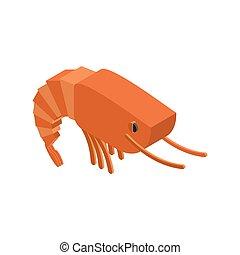 Shrimp isolated. Crustaceans on white background. sea ??animals
