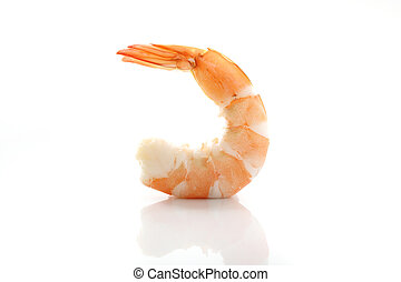 Shrimp isolated in white background