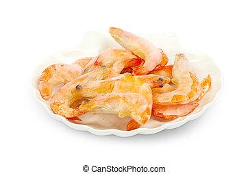 shrimp isolated on a white background