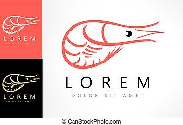 shrimp logo vector