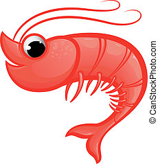 Shrimp Mascot - Vector illustration of a prawn