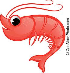 Shrimp Mascot - Vector illustration of a prawn