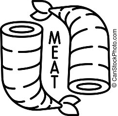 Shrimp meat icon, outline style