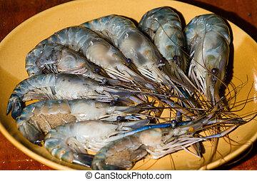 Shrimp on the plate