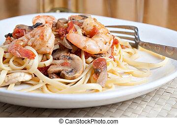 Shrimp Pasta Dish - A delicious shrimp scampi pasta dish...