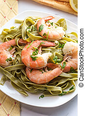 Shrimp Scampi Pappardelle Pasta