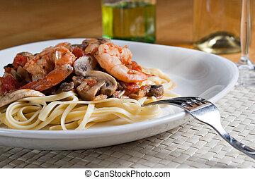 Shrimp Scampi Pasta Dish