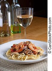 Shrimp Scampi with Linguine - A delicious shrimp scampi over...