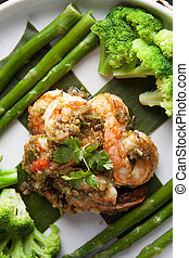 Shrimp Scampi with Vegetables