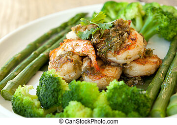 Shrimp Scampi with Veggies