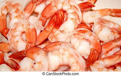 Shrimp - Fresh shrimp boiled and ready to eat