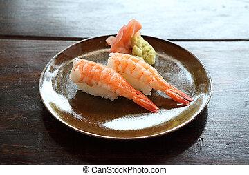 Raw Shrimp Sushi