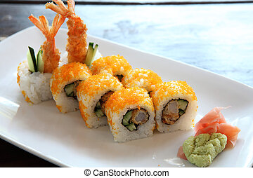 shrimp tempura maki