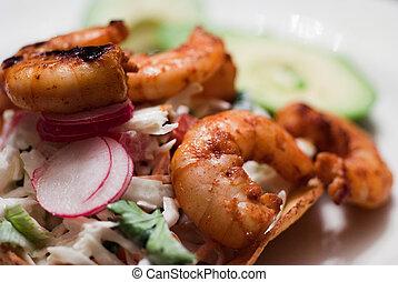 Shrimp Tostadas with Avocado Ready to Eat