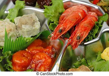 Shrimp tray detail