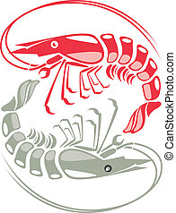 Shrimp vector illustration - shrimp vector illustration...