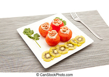shrimp with tomato