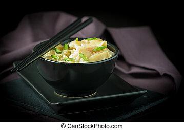 Shrimp Wontons and Noodles