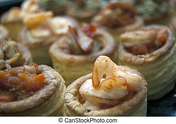 Shrimps Appetizer - Shrimp prawn appetizer cooked seasoned...