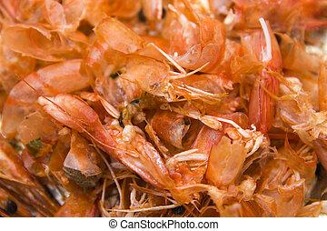 Shrimps leftovers