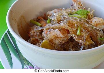 shrimps with glass noodles