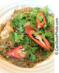 shrimps with glass noodles