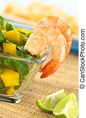 Shrimps with Watercress Salad