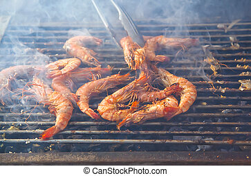 shrims barbecue - outside seafood grill