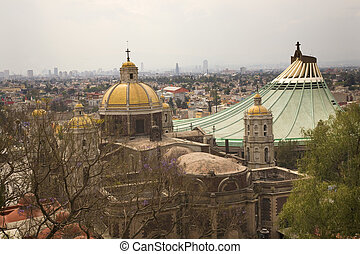 Shrine Guadalupe Mexico - Old and New Churches, Shrine of...