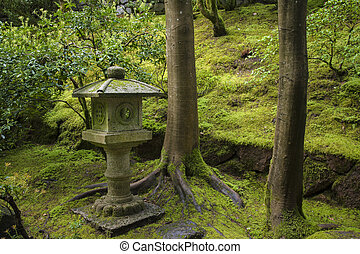 Shrine in a Japanese garden