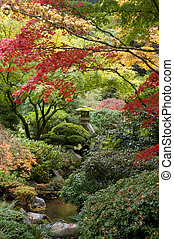 Shrine in Japanese garden, Portland, Oregon