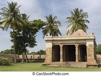 Shrine of Lord Ganesha at Gangaikunda Temple.