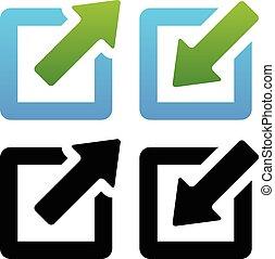 Shrink / Enlarge or Minimize / Maximize Icons Shrink / ...