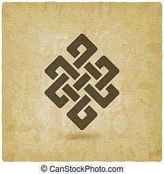 Shrivatsa endless knot vintage background