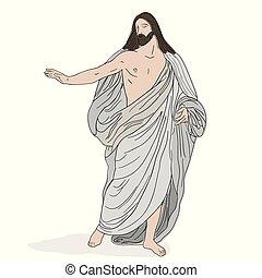 shroud., キリスト, イエス・キリスト