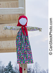 Shrovetide doll - scarecrow for burning as symbol of spring coming.