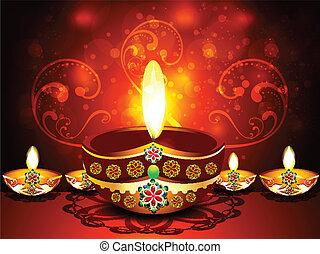 Shubh diwali Deepak Background vector illustartion
