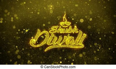Shubh Diwali Wishes Greetings card, Invitation, Celebration...