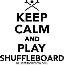 shuffleboard, juego, calma, retener