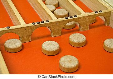 shuffleboard, juego, holandés