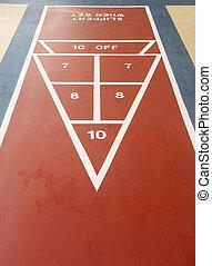 shuffleboard, tribunal, punto