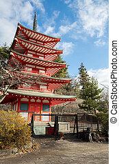 Shureito pagoda in yamanashi Fuji Japan - Beautiful Shureito...